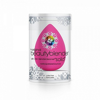 Спонж Beautyblender original и мыло для очистки Solid Blendercleanser
